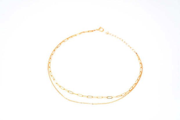May Martin Double Strand Chain Link Anklet
