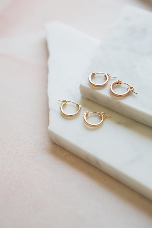 May Martin Rose Gold Hinge Hoops