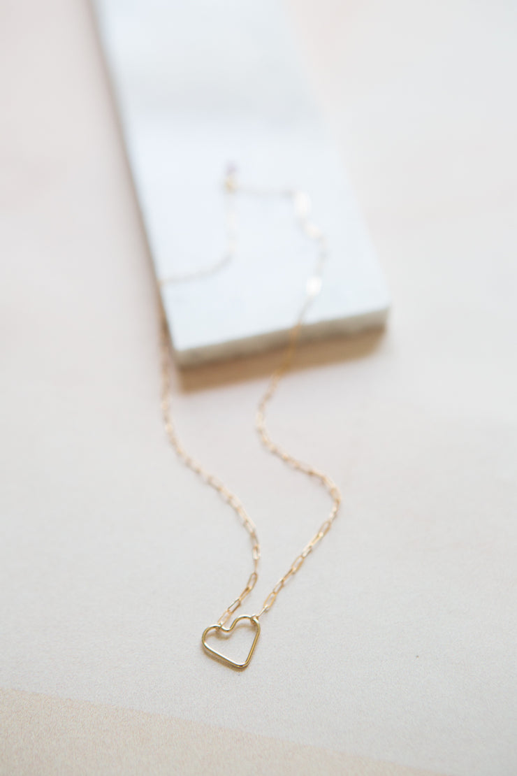 May Martin Link Chain with Heart Necklace