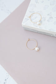 May Martin Pearl Hoops