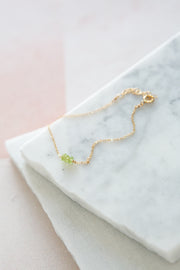May Martin Peridot Beaded Bracelet