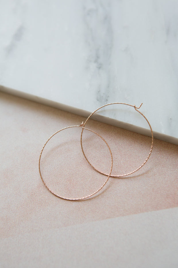 May Martin Rose Gold Sparkle Hoops