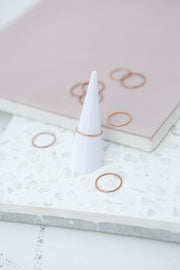 May Martin Rose Gold Stacking Ring