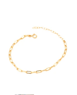 May Martin Solid Link Chain Bracelet