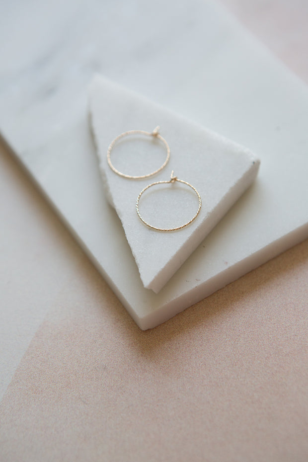 May Martin Gold Sparkle Hoops
