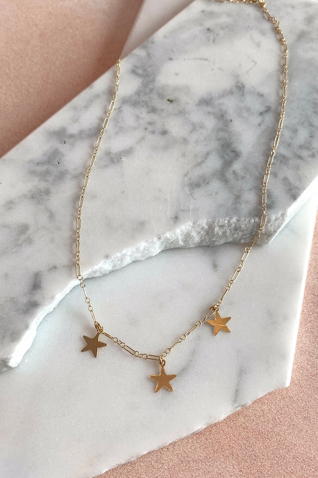 May Martin 3 Star Necklace