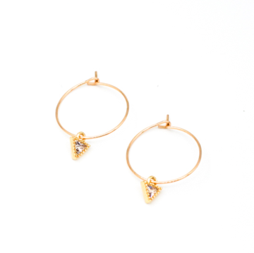 May Martin Triangle CZ Earrings