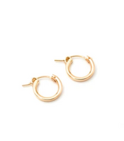 May Martin XS Gold Hinge Hoops