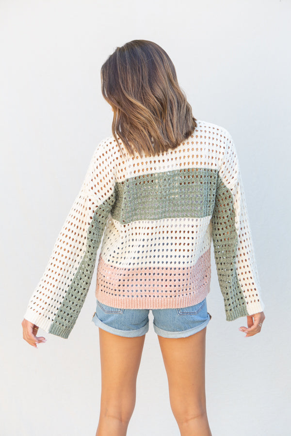MinkPink Stripe Chenille Sweater