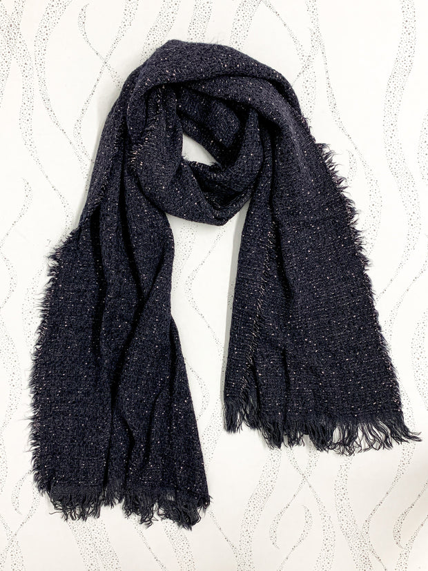Speckled Scarf in Navy