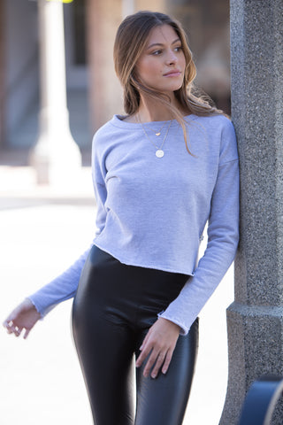 NYTT Pudding Long Sleeve Cropped Pullover