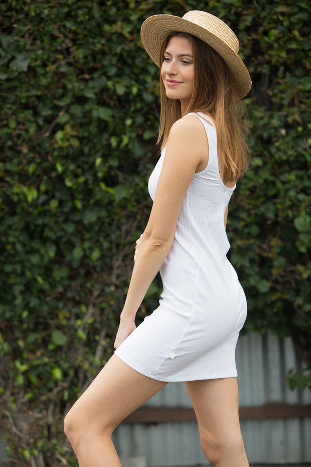 NYTT Scoop Neck Mini Dress in White