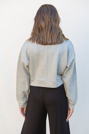 Olivaceous Limitless Pullover in Heather Grey