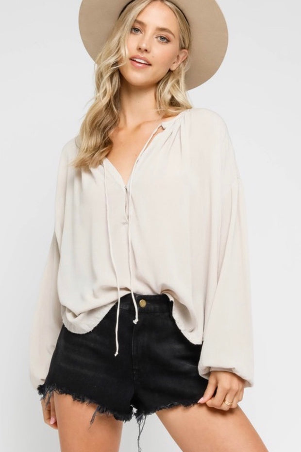 Olivaceous Napa Top