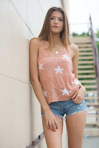 Olivaceous Stars Align Tank in Peach