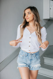Olivaceous Siene Top in White