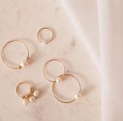 Paradigm Design Single Pearl Hoops