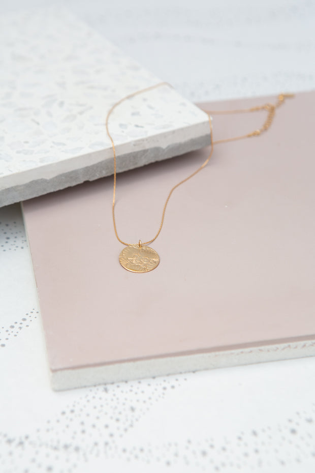 Paradigm Shell Stamp Coin Necklace