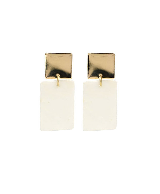 Paradigm Square Shell Earrings