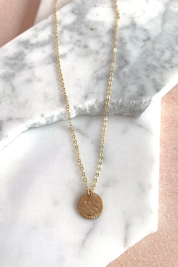 Paradigm Design State Coin Necklace