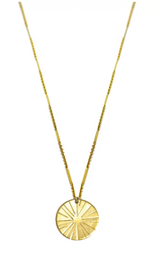 Paradigm Design Large Coin Sunburst Necklace