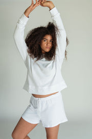 Perfect White Tee Tyler Pullover in White