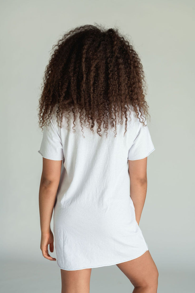 Perfect White Tee Zepplin Tee Dress in White