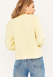 Project SocialT Crush On You Sweatshirt in Yellow