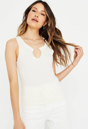 Project Social T Lori Notch Tank in Ivory