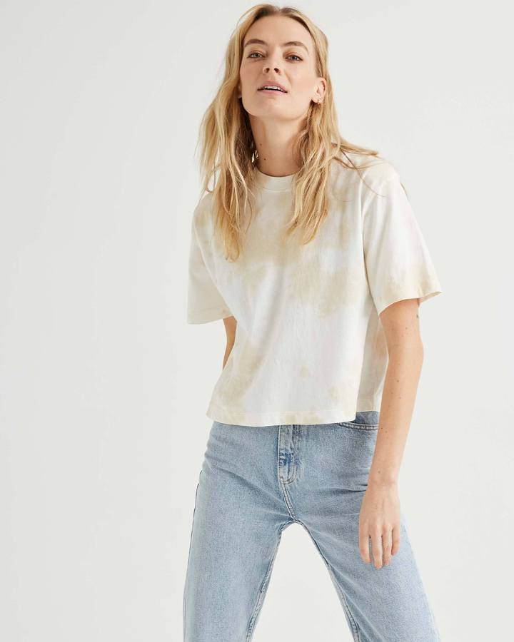 Richer Poorer Relaxed Crop Tee in Cloud Wash