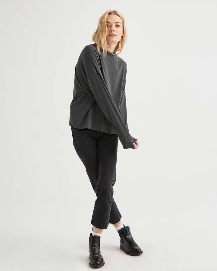 Richer Poorer Relaxed Long Sleeve in Charcoal