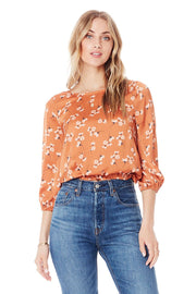 Saltwater Luxe Becca Top in Clay Ditsy Bunches