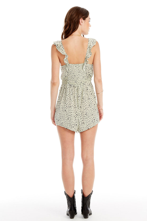 Saltwater Luxe Florida Romper in Cheetah Spots