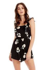 Saltwater Luxe Florida Romper in Night Blooms