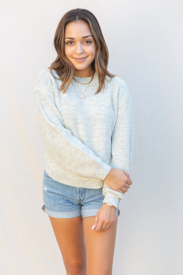 Saltwater Luxe Leila Sweater in Grey