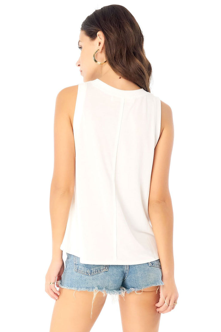 Saltwater Luxe Muscle Tank in White