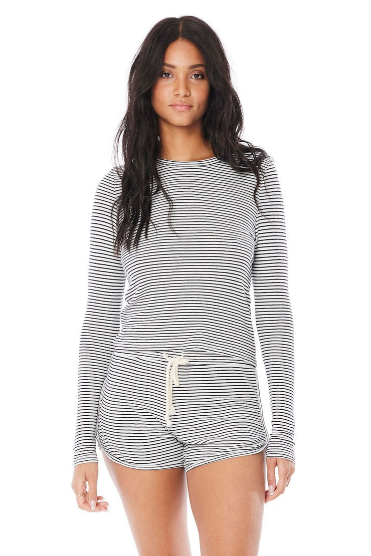 Saltwater Luxe Striped Long Sleeve Crew Neck