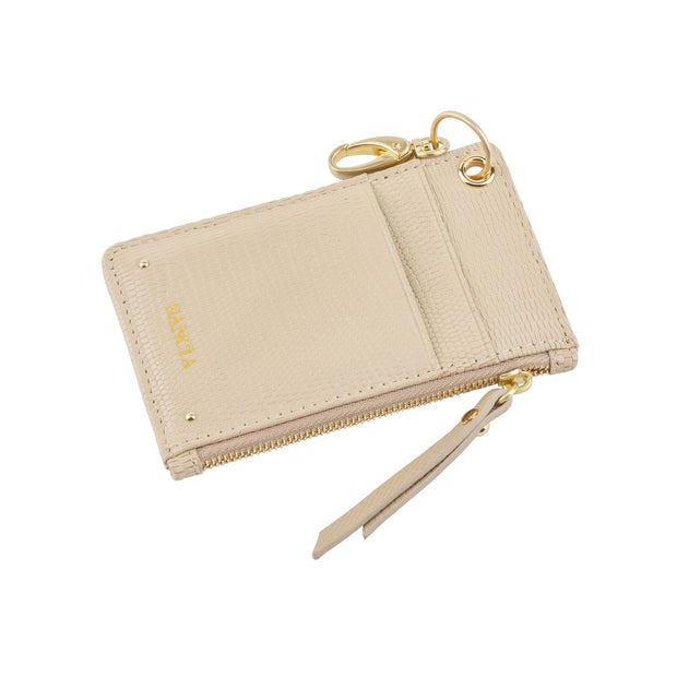 Sancia The Mimmie Card Pouch in Almond Lizard