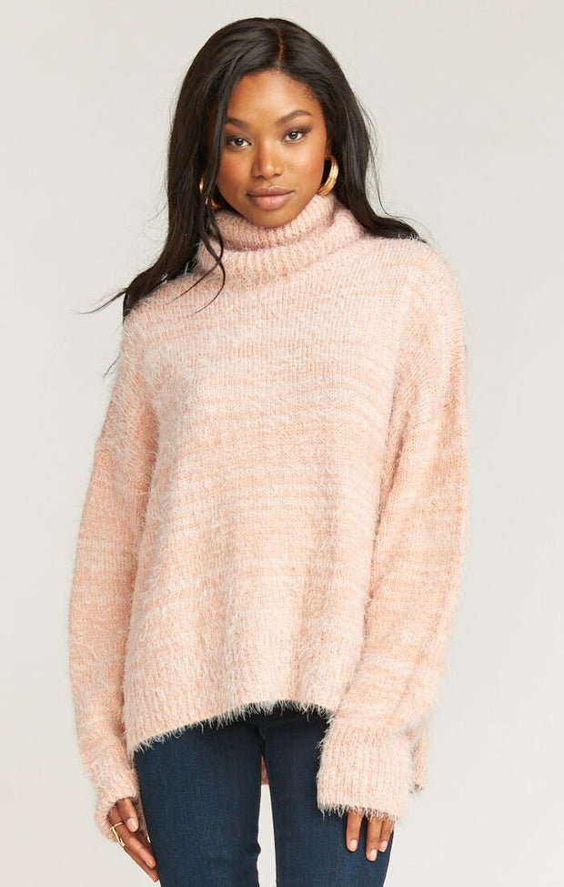 Show Me Your Mumu Fatima Turtleneck Sweater in Pink