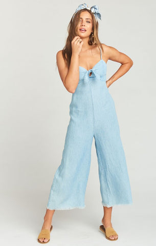 Show Me Your Mumu Paolo Playsuit in Shore Chambray