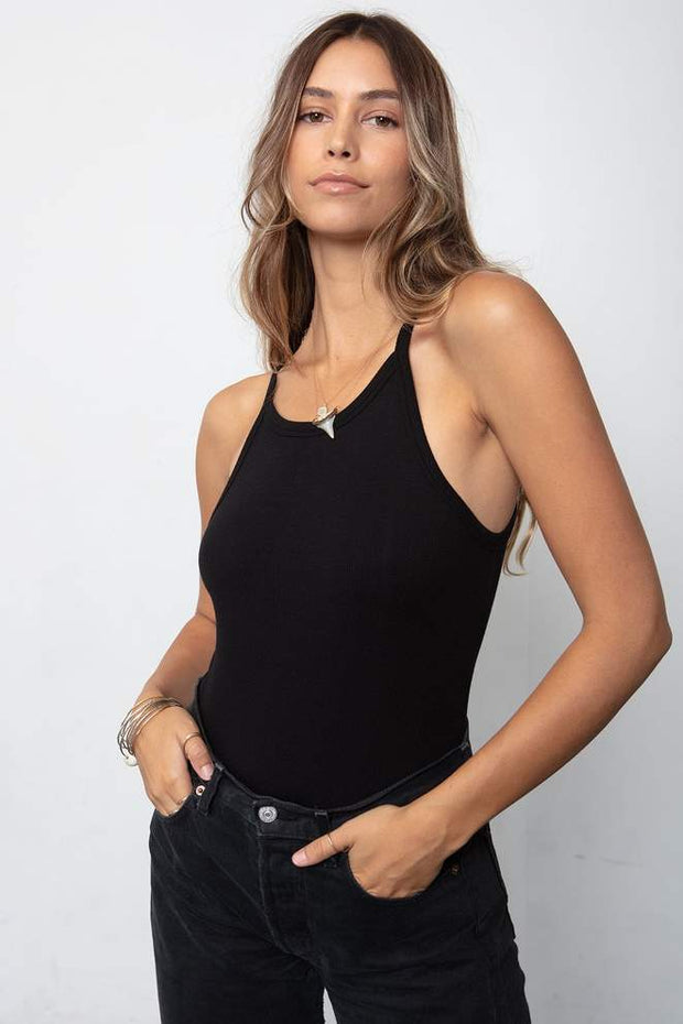 Stillwater 90s Rib Tank in Black