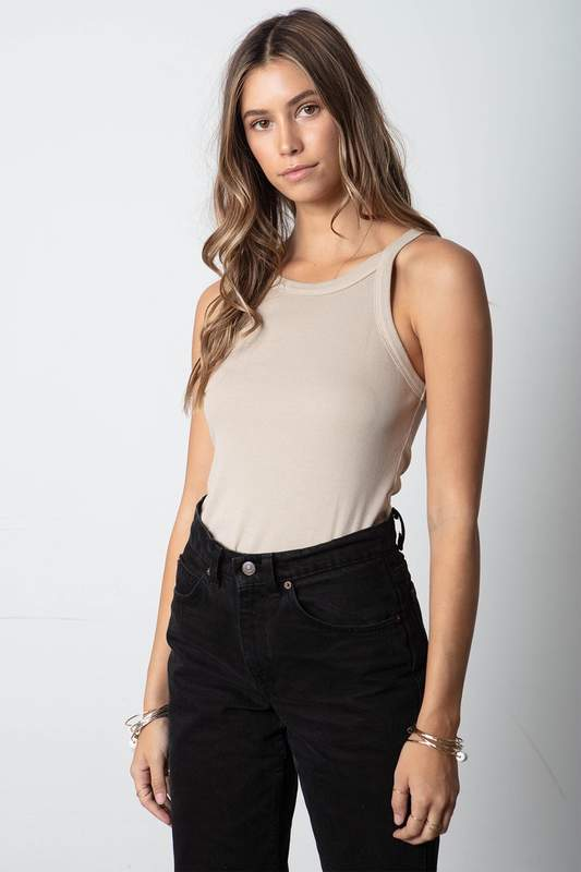 Stillwater 90s Rib Tank in Taupe