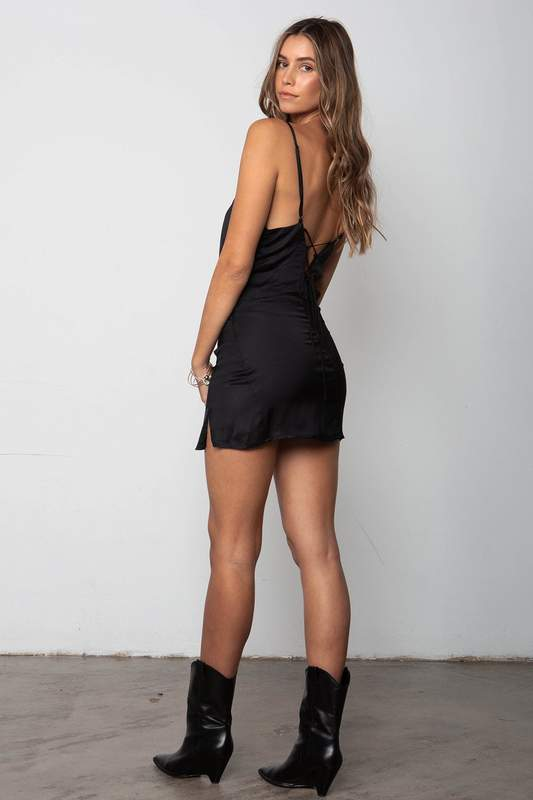 Stillwater Just for Thrills Mini Dress in Black