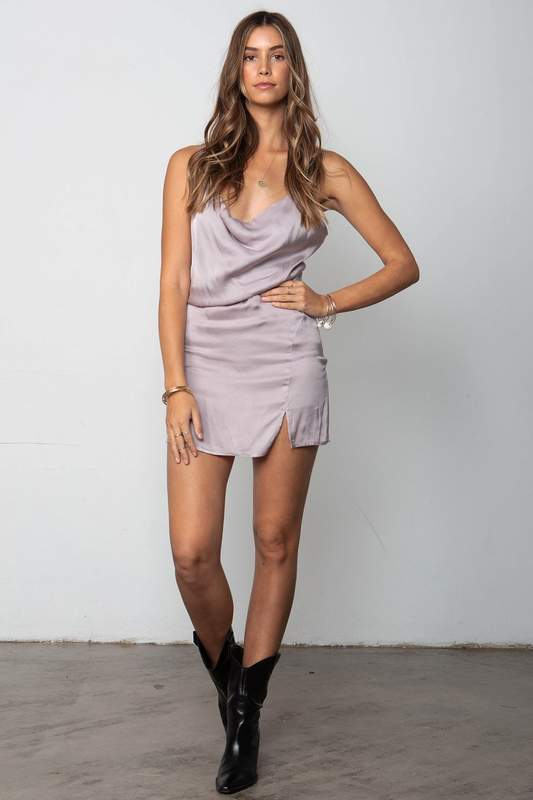 Stillwater Just for Thrills Mini Dress in Lilac