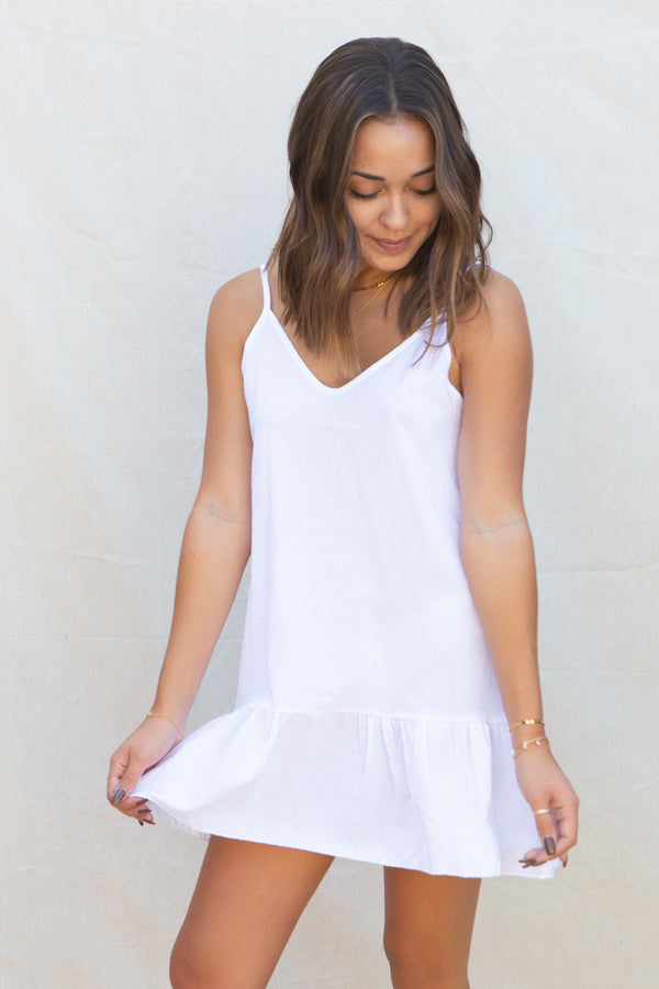Summit + Peak Huntington Dress in White