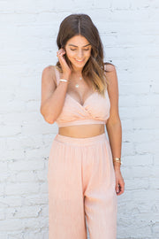 Summit + Peak Rose Crop Top