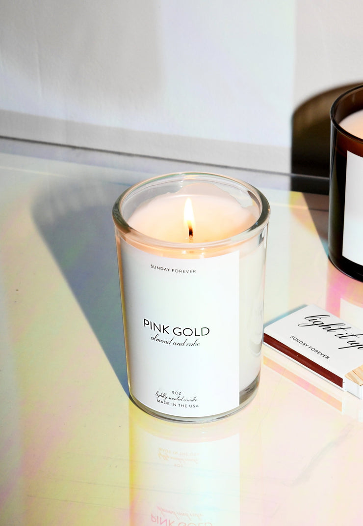 Sunday Forever Pink Gold Candle