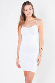 Idea White Slip With Straps