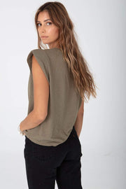 Stillwater Strong Shoulder Tank in Olive