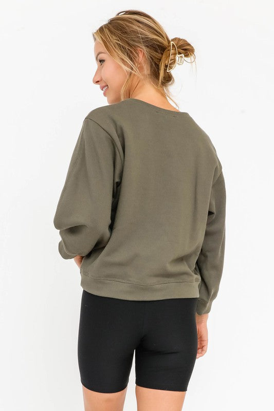 Olivaceous Jaymes Pullover in Olive